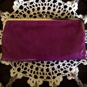 Hobo clutch/wallet leather lavender/purple